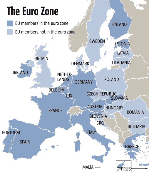 Euro-zone countries as at November 2011