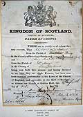 Gretna Green Marriage Certificate of Simon Lang signed 1827.