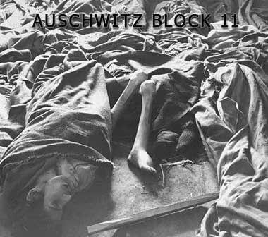 Inside Block 11 at the German Auschwitz Camp